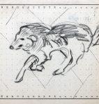 Dessin d'Alexandre Cingria, monogrammé (fonds A. Cingria, © CLSR)