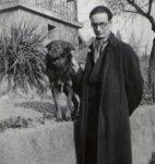Edmond-Henri Crisinel et son chien Néron (fonds Edmond-Henri Crisinel, CLSR)