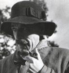 C. F. Ramuz sur le tournage de « Rapt », Lens, automne 1933 (fonds René Auberjonois, © CLSR)