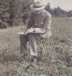 René Auberjonois, 1943, photographie de Gustave Roud (© fonds photographique Gustave Roud, BCUL / C.-A. Subilia)
