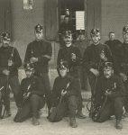 Le caporal Gustave Roud et son groupe du bataillon de fusiliers 1, 1917 (fonds G. Roud, CLSR)