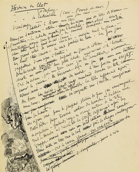 Cahier de notes de Charles Clément (fonds Ch. Clément, © CRLR)