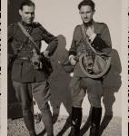 Le lieutenant Denis de Rougemont et le premier-lieutenant Albert Mermoud, 4 octobre 1939 (fonds Henry-Louis Mermod, CLSR)