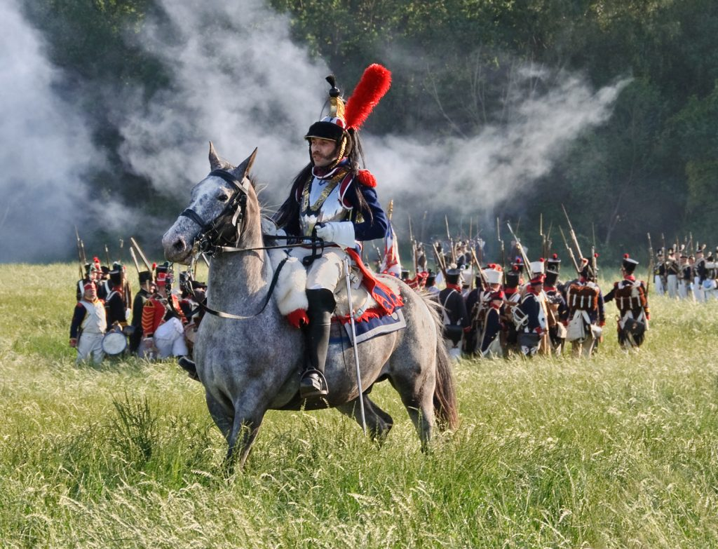 Re-enactment of the battle of Waterloo