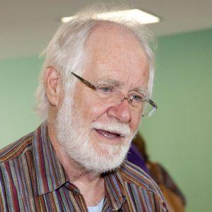 EMF Opening Symposium. Professeur Jacques DUBOCHET. © Willy Blanchard, EMF, Université de Lausanne
