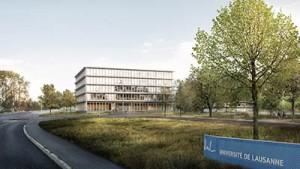 Vue extérieure du futur bâtiment Synathlon, qui abritera notamment l'ISSUL et le Cluster du sport international.