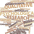 Abstract word cloud for Qualitative psychological research with related tags and terms