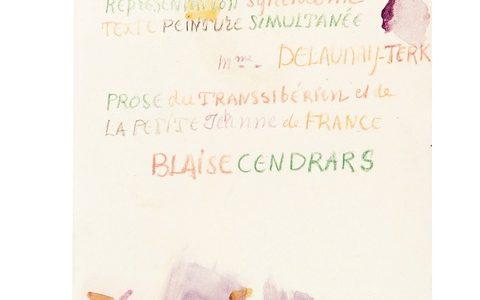 Blaise Cendrars et Sonia Delaunay. La Prose du Transsibérien