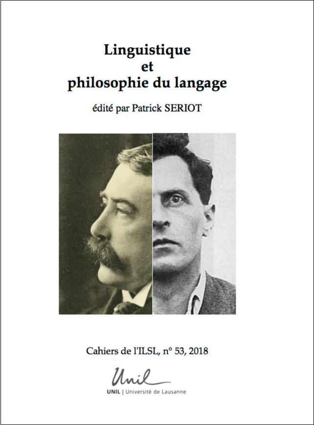 Linguistique et philosophie du langage