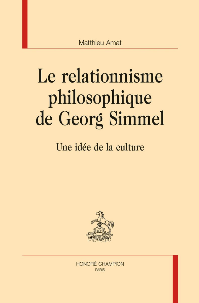 Le relationnisme philosophique de Georg Simmel. Une idée de la culture