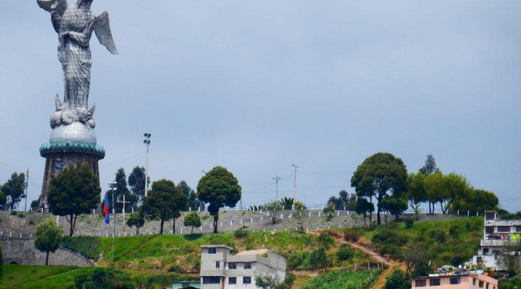 "Photo of the statue ""El Panecillo"" in Quito, Ecuador by Corey Heimlich"