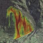 Tiziana Egli: Cartes de danger de chutes de blocs sur le village des Morgnes (Bagnes)