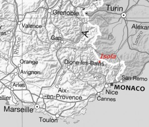 Tragedy location (map from French Géoportail)