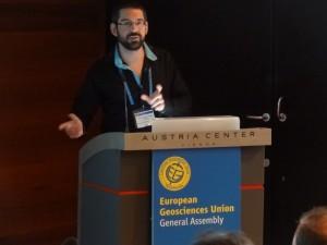 Pierrick presenting his talk