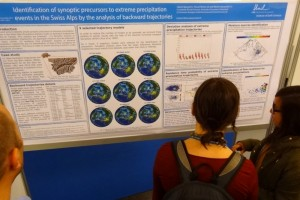 Liliane presenting her poster