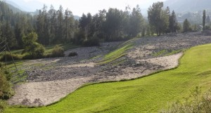 Debris flow in Scuol