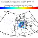 Liliane Nguyen: Identication de précurseurs synoptiques aux évènements de précipitations extrêmes pour des situations de Sud dans les Alpes par l'analyse des trajectoires inverses