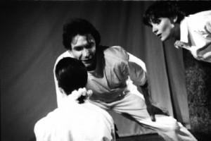 Léonore Easton (de dos), Roelof Overmeer et Carine Reymond (1997) © Françoise Easton